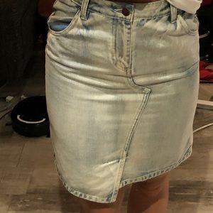 Mink pink denim skirt size small